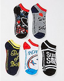 Suicide Squad Ankle Socks 5 Pack - DC Comics