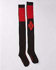 Harley Quinn Over The Knee Socks - DC Comics
