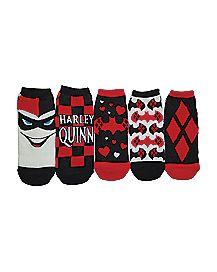 Harley Quinn Shortie Socks 5 Pack