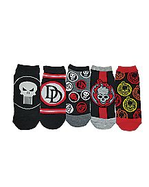 Marvel Hero Ankle Socks - 5 Pack