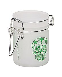 Frosted Skull Storage Jar - 1.5 oz.