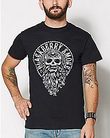 Skull Beard Blackberry Smoke T Shirt