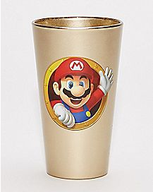 Super Mario Gold Pint Glass - 16 oz.