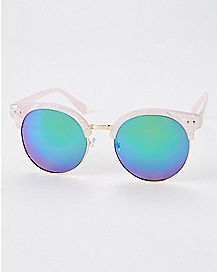Pink Marble Metal Sunglasses