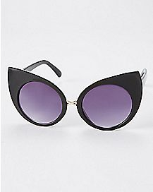 Purple Cougar Plastic Sunglasses