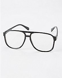 Plastic Frame Faux Glasses