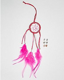 Pink Dream Catcher and Earring Set
