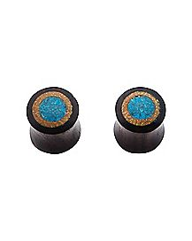 Turquoise-Effect Wood Plug - 00 Gauge