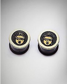 Buddha Face Wood Plugs