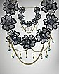 Flower Lace Chain Necklace