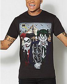 Joker and Harley American Gothic T shirt - DC Comics