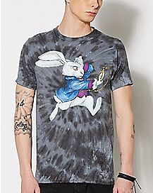 Tie Dye White Rabbit T Shirt - Alice in Wonderland