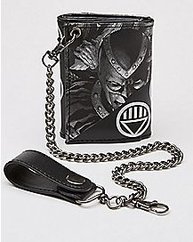 Blackest Night Black Lantern Chain Wallet