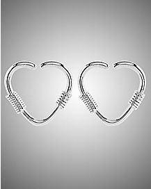 Heart Spiral Seamless Ring - 16 Gauge