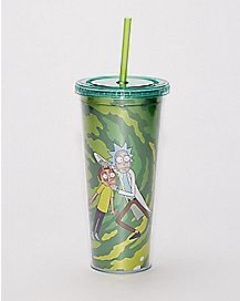 Rick and Morty Cup with Straw - 24 oz