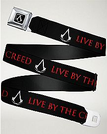 Assassins Creed Live By the Creed Seatbelt Belt