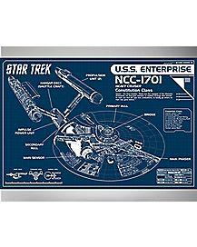 Enterprise Blueprint Star Trek Poster