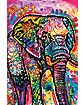 Dean Russo Graffiti Elephant Poster