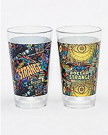 Doctor Strange Pint Glass 16 oz. 2 Pack - Marvel Comics