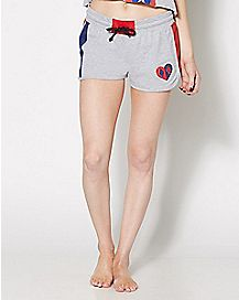 Harley Quinn Heart Shorts - DC Comics