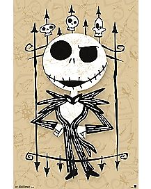 Nightmare Before Christmas Jack Cartoon Art Poster
