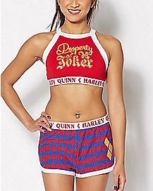 Harley Quinn Joker Cami and Shorts Pajama Set - Suicide Squad