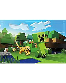 Minecraft Ocelot Chase Poster