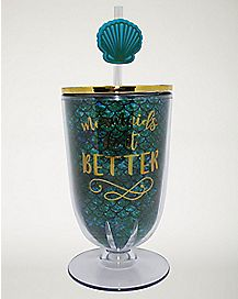Mermaids Do It Better Cup with Straw - 16 oz.