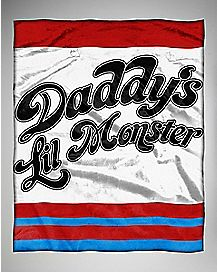 Harley Quinn Suicide Squad Daddy's Little Monster Throw Blanket