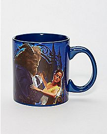Beauty and the Beast Glitter Coffee Mug 20 oz. - Disney