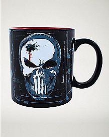 Punisher Marvel Skull Coffee Mug