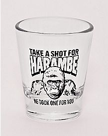 Take a Shot For Harambe Shot Glass - 1.5 oz.