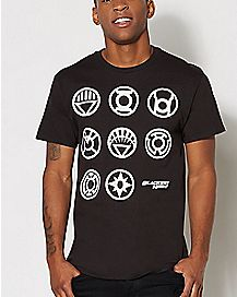 Blackest Night Lantern Insignia DC Comics T Shirt