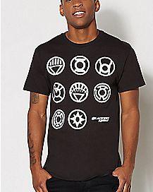 Blackest Night Lantern Insignia DC Comics T Shirt