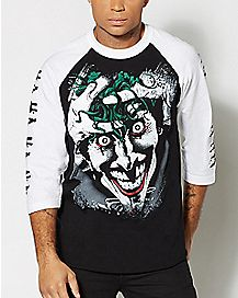 Joker Haha Killing Joke Raglan T Shirt