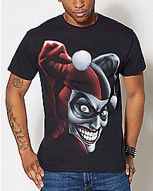 Harley Quinn Airbrush T Shirt - DC Comics