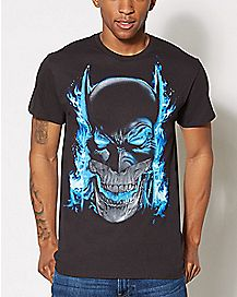 Batman Skull Airbrush T Shirt - DC Comics