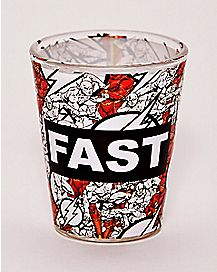Fast The Flash Shot Glass - 1.5 oz.