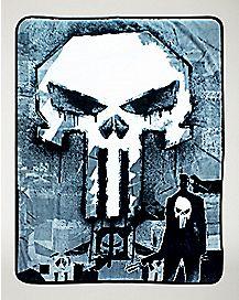 Graffiti Punisher Fleece Blanket - Marvel Comics