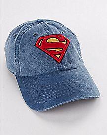 Denim Wash Superman Dad Hat