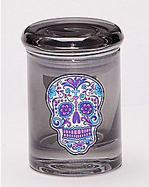 Sugar Skull Storage Jar - 3 oz