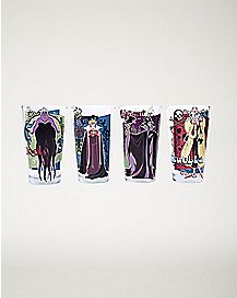 Disney Villains Pint Glass 4 Pack