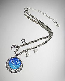 Wizard Pendant Moon Necklace