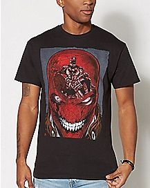 Red Hood Mask Reflection T Shirt