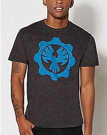 Blue Shield Gears of War T Shirt