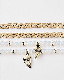 Moon Child BFF Bracelet 4 Pack