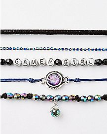 Gamer Girl Beaded Bracelets - 5 Pack