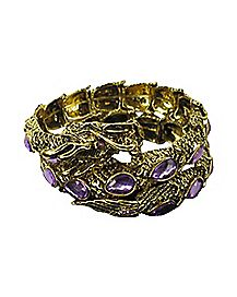 Purple CZ Dragon Wrap Bracelet