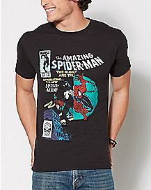 Comic Split Spider-Man Comic Split T Shirt - Marvel Comics