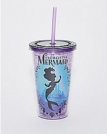 Silhouette The Little Mermaid Cup with Straw - 16 oz